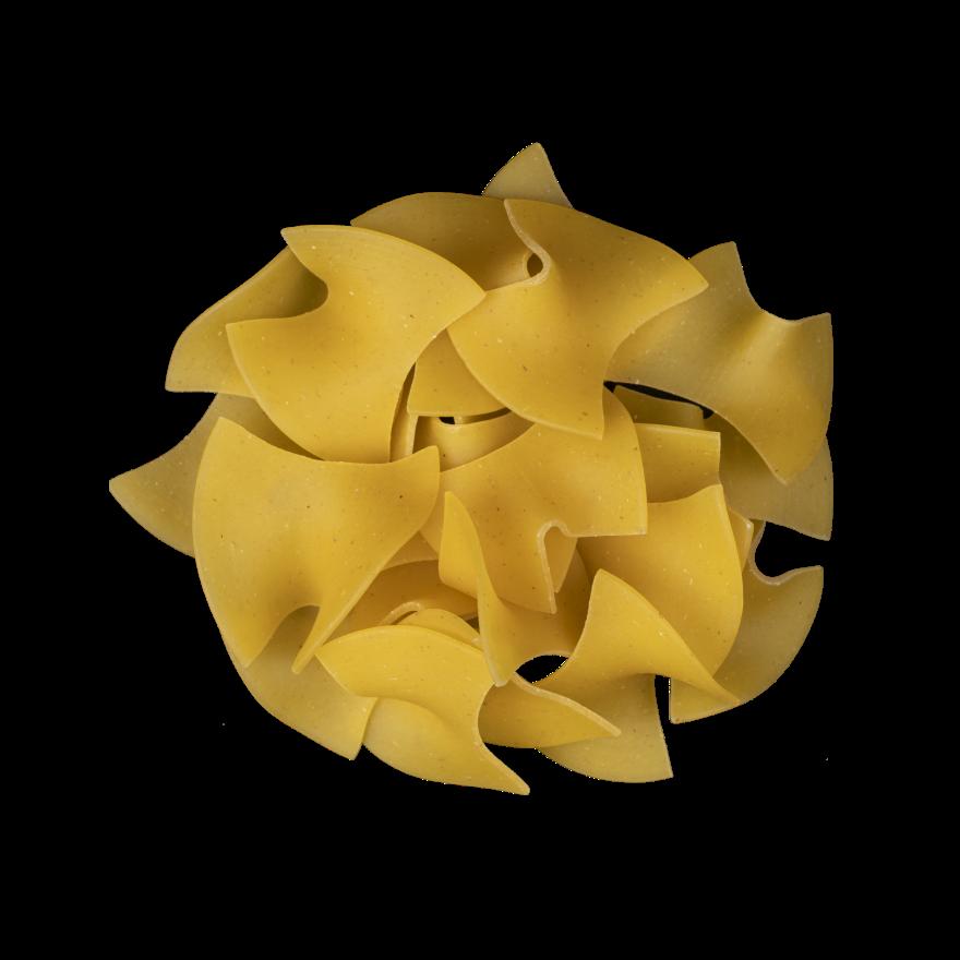 Large quadretti with eggs